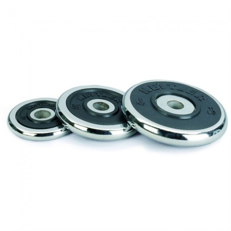 Kettler Chrome-Rubber Weight Disks 2.5kg hromētais svaru disks